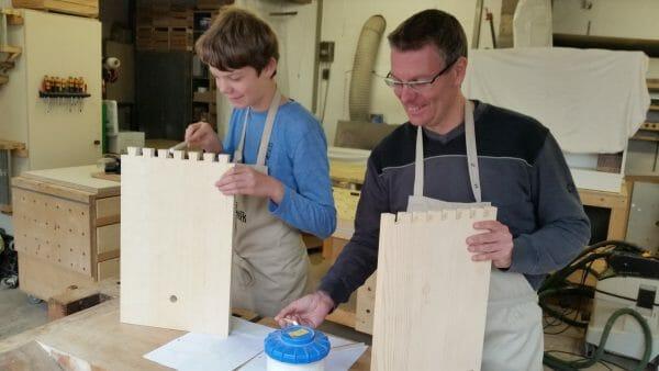 eltern kind kurs-heimwerken-schreiner-selber bauen-eigenes moebel bauen